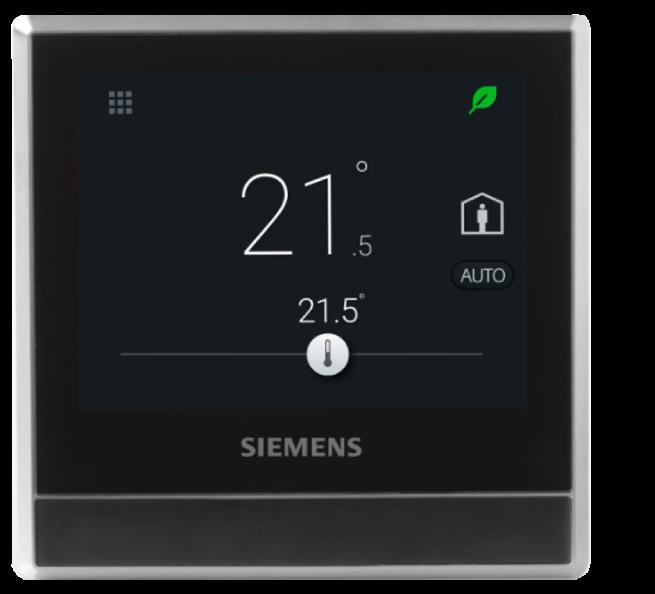 Chytrý pokojový termostat Siemens RDS110